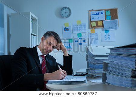 Boredom Mature Businessman