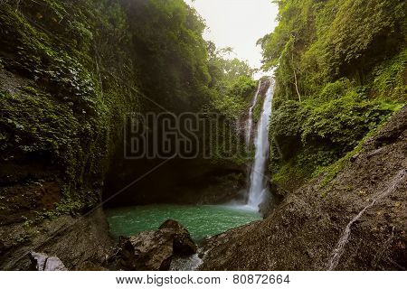 Aling Aling Waterfall In Bali, Indonesia