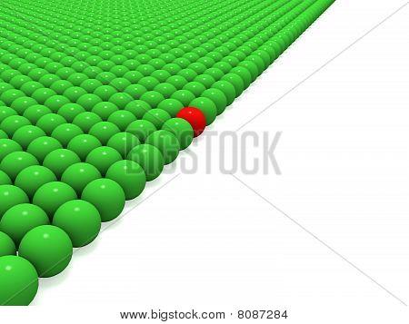 Green balls.