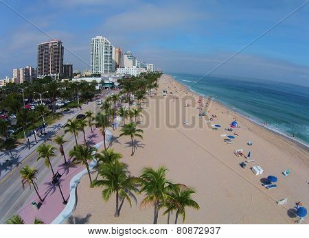 Aerial View Of Fort Lauderdale Beach