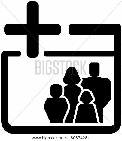 Family Medical Black Icon