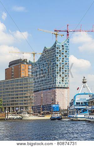 Concert Hall Elbphilharmonie Under Construction
