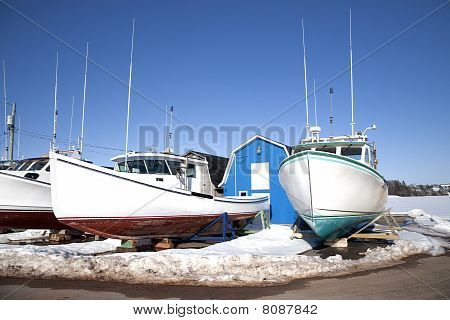 Prince Edward Island Winter Fishing Boats