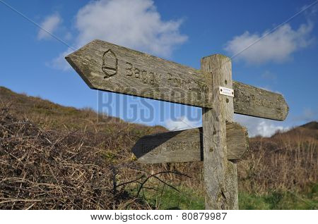 Southwest Coast Path Baggy Point Sign