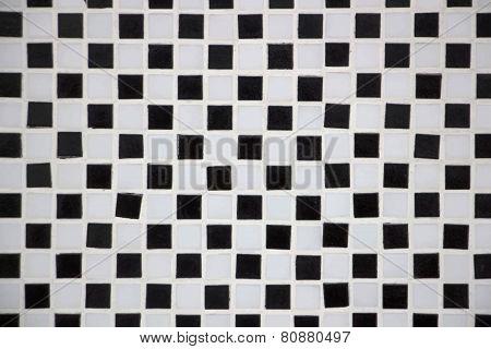 Ceramic black and white cubes