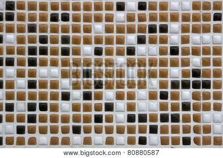 Ceramic brown, black and white cubes