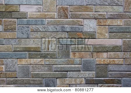 Artificial stone bricks wall