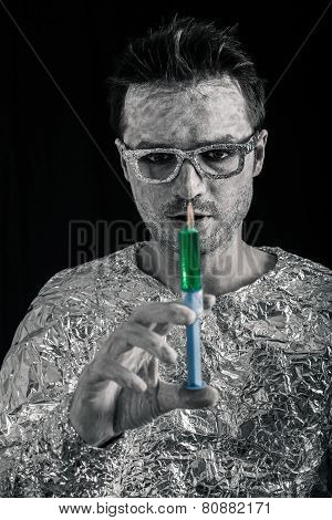 Spaceman With Syringe