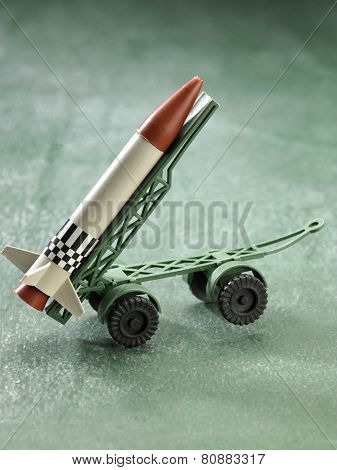 plastic toy missile with carrier