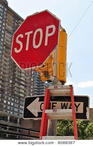 Broken stoplight