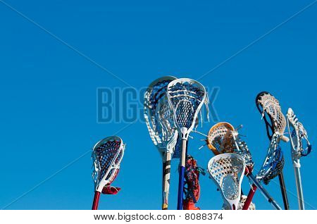 Many Lacrosse Sticks In The Air
