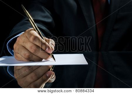Signing a deal!