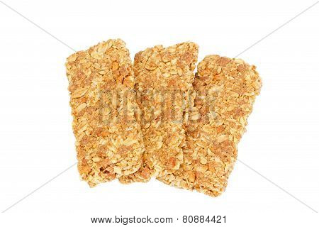Healthy Granola Bar Isolated On White
