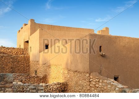 Iberian Citadel Of Calafell. Old Fortress In Catalonia