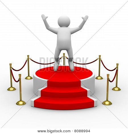 Podium On White Background. Isolated 3D Image