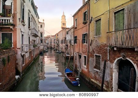 Typical Urban Landscape Of Old Venice
