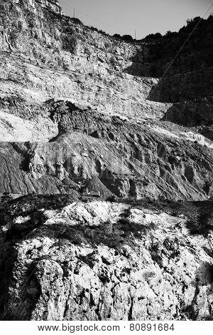 Empty rock quarry
