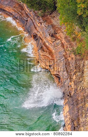 Cliffs And Crashing Waves