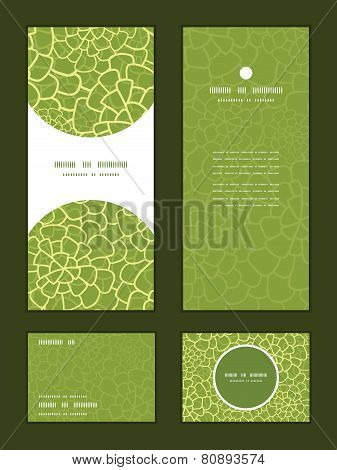 Vector abstract green natural texture vertical frame pattern invitation greeting, RSVP and thank you