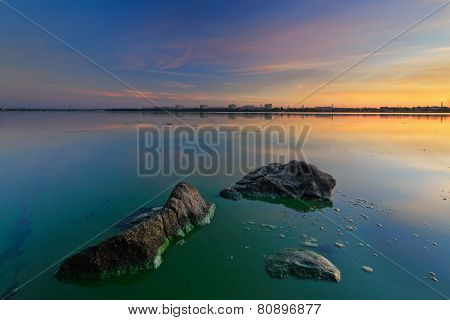Sunrise Of August On The Dnieper