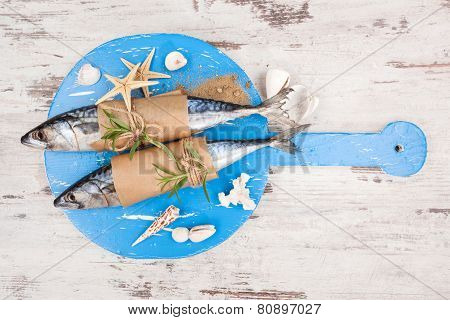 Luxurious Seafood Background.