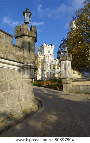 castle neogothic Hluboka nad Vltavou. Built in the thirteenth century and has undergone several renovations until now look like it is one of the most visited castles in the Czech Republic.