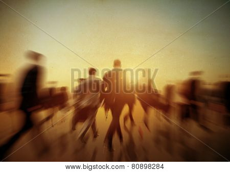 Commuter Business People Travel Corporate Concept
