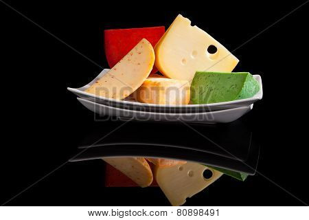 Culinary Colorful Cheese Variation.