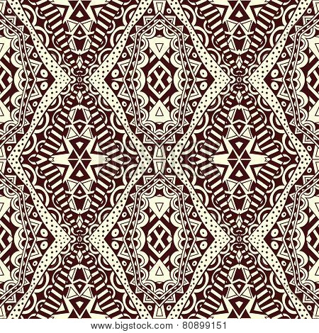 Contrast Lacy Seamless Tribal Pattern