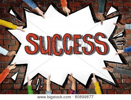 Success Achievemnt Victory Accomplishment Growth Winning Excellence Concept