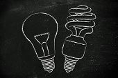 stock photo of lightbulb  - energy savings - JPG
