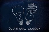 picture of fluorescence  - energy savings - JPG