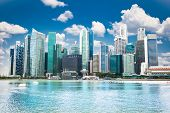 foto of suny  - Beautiful landscape of Singapore city in suny day - JPG