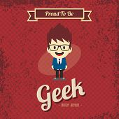 foto of geek  - cartoon geek character theme vector art illustration - JPG
