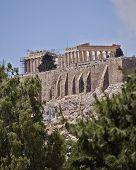 foto of parthenon  - east view of Parthenon temple on acropolis of Athens Greece - JPG