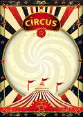 picture of funfair  - big top sunbeams circus poster - JPG