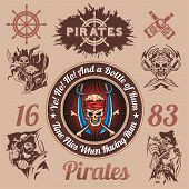 stock photo of pirate  - Pirate themed design elements  - JPG