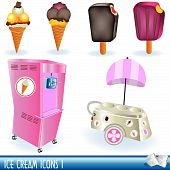 image of ice-cream truck  - A collection of ice cream icons - JPG