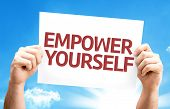 stock photo of empower  - Empower Yourself card with a beautiful day - JPG
