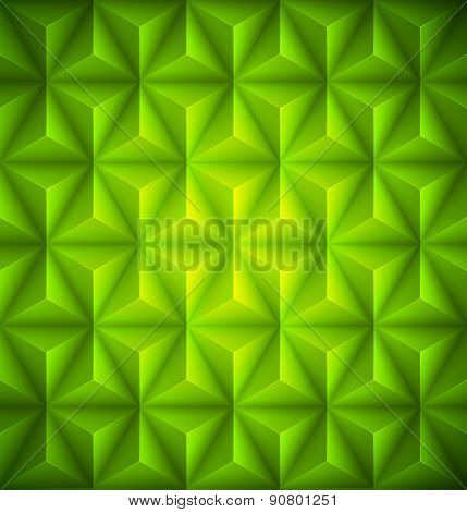 Green Geometric abstract low-poly paper background. Vector illustration