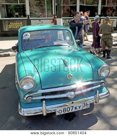 Soviet Economy Retro Car Of 1960S Sedan Moskvitch 407