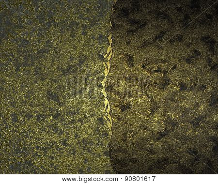 Dark Gold Background With Gold Scuffed. Design Template. Design Site