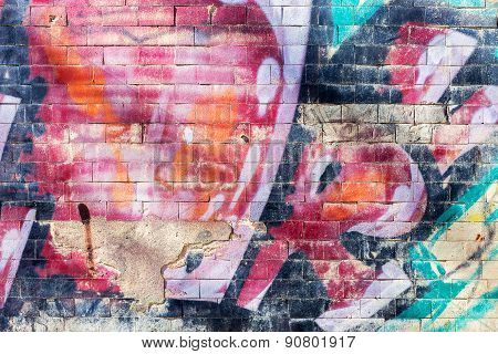 Zhitomir, Ukraine - April 27, 2015: Bullies stained facade of the old building requires urgent repai