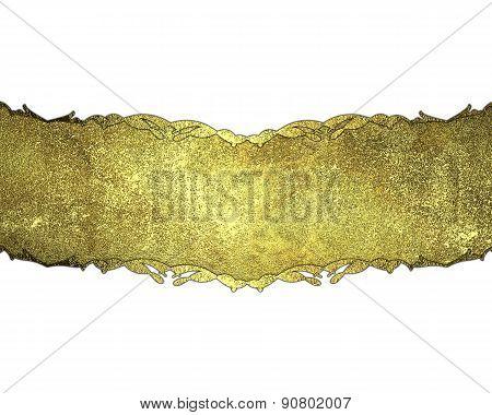 Template Design Gold Nameplate. Template Design.