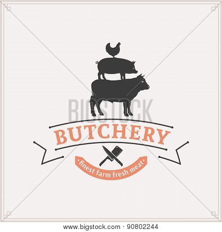 utcher Shop Label Template