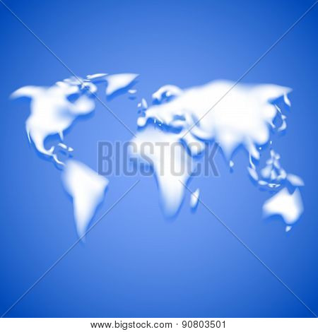 Clouds Like Continents, Travel Vector Background