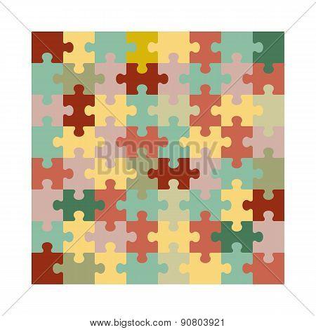Assembled jigsaw puzzle