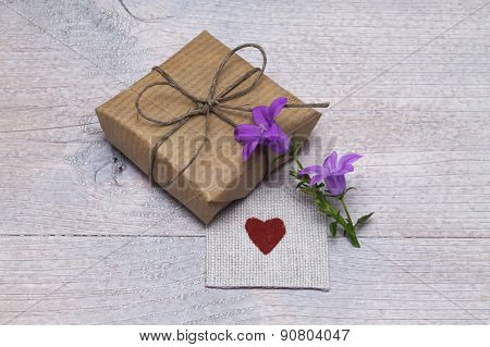 Surprise With Gift And Flower
