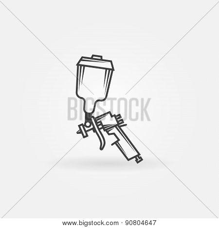 Spray gun logo