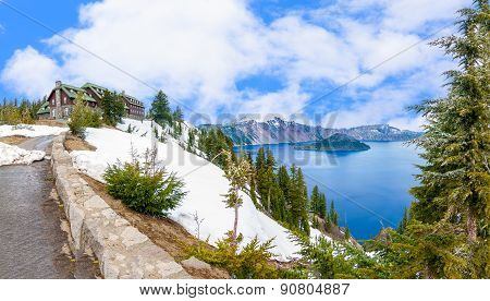 Beautiful Panorama Of Crater Lake